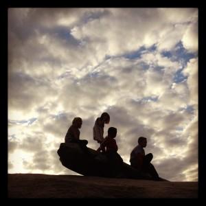 Kids on Stone Mountain